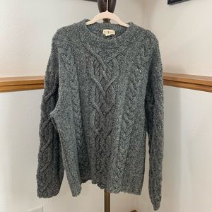 Vintage J.Crew Wool Gray Knitted Sweater